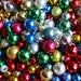 Vintage Feather Tree Glass Ornaments Lot - 35 Mercury Balls - Varied Sizes and Colors