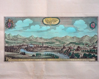 Villach/Austria - Cm. 50 x 35 Inches 19,7 x 13,7 - Water-coloured by hand. Since 1930s