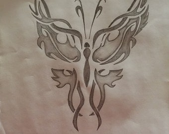 Butterfly Drawing for Customization