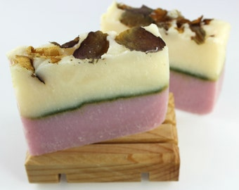 Victorian Rose Handmade Soap, Cold Process Vegan Friendly Soap