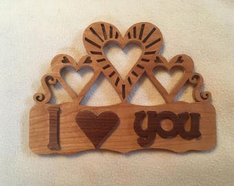 I Love You Wall Hanging