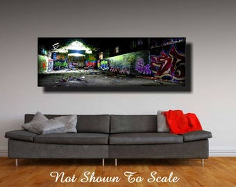 Industrial Wall Art, Industrial Art, Steampunk Wall Art, Steampunk Art, Lowbrow Art, Graffiti Art Canvas, Graffiti Wall Art, Graffiti