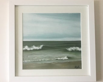 Green Seas - Original Framed Oil painting by Sam Lyle
