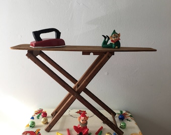 1930's  Toy Wooden and Folding Ironing Board