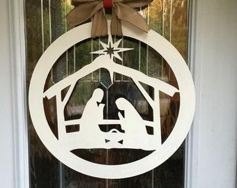 Nativity door hanger, nativity sign, nativity, christmas door hanger, christmas decor, nativity decor, christmas, door hanger