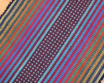 Cotton Rag Rug Primary Colors 2' x 3' Kitchen Rug Bathroom Rug