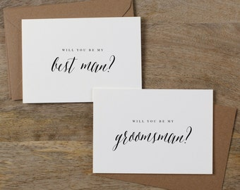 5 x Will You Be My Best Man, Will You be My Groomsman, Best Man Card, Groomsman Card, Wedding Party, Will You Be My Cards, Usher Card, K7