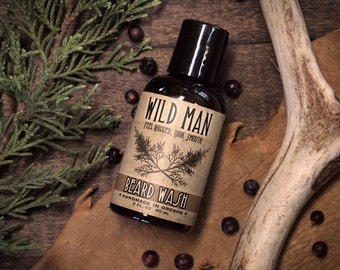 Wild Man Beard Wash THE ORIGINAL Beard Soap Shampoo - 60ml // 2oz Grooming
