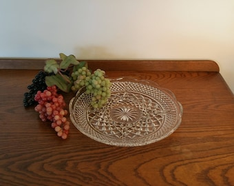 Wexford Divided Glass Serving Tray Mid Century Relish Pressed Glass Vintage Mad Men Serving Original Box