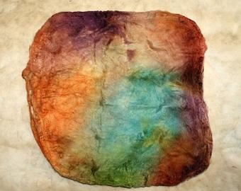 Hand-painted silk hankie Opalmagie