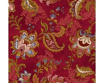 patchwork background motifs ref120/6671 multicolored Paisley fabric