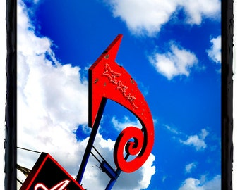 10 x 13 Print Special Loop Red Arrow Against Blue Sky with Clouds Americana Art Print