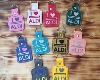 Aldi Quarter Keeper | Aldi Key Chain | Aldi Quarter Holder | Cart Coin Key Fob | Vinyl Key Fob