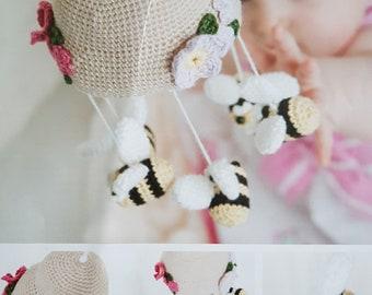 Bumble Bee Baby Mobile crochet