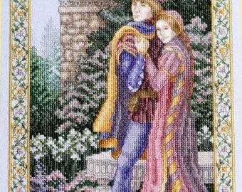 Romeo & Juliet Teresa Wentzler Cross Stitch Kit Shakespeare Romance History
