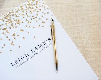 Glitter Personalized Notebook - Create your own cute notebook!
