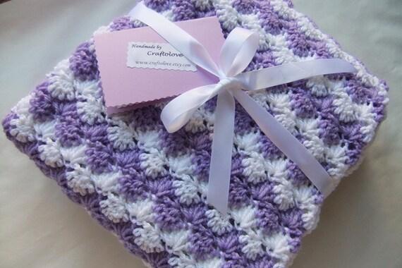 Mädchen Babydecke Crochet Decke Baby Girl-Dusche-Geschenk