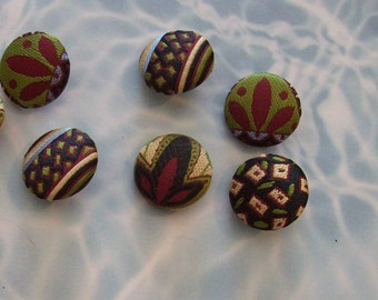 Beautiful patterned cloth buttons - Oriental Flair