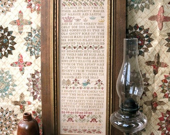 Apostle's Creed : Cross Stitch Pattern by Heartstring Samplery