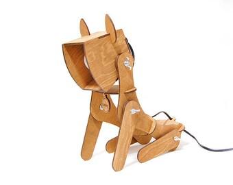Hölzerne Lampe Hund Home Decor Tischleuchte Geschenk Für Kinder Beleuchtung  Dekor Sperrholz Lampe Geschenk Für Ihre