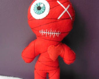 Red Mummy Voodoo Doll - Valentine's Day, Wicca, Love, Witchcraft, Occult, Esoteric, Galentines, BFF, Wedding, Mystic, Gothic, Monster, Spell
