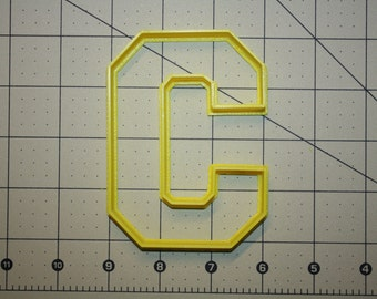 Letter C Cookie Cutter Varsity Letter Cookie Cutter