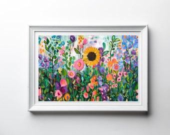 "Giclee Print - ""My Forever Adventure"" - Fine Art Print of Original Acrylic Painting - Wall Decor - Home Decor"