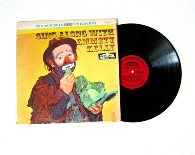 Sing Along with Emmett Kelly Clown Music Vinyl Record Album 12 Inch LP Vintage Dynamic Stereo Forum Record Album