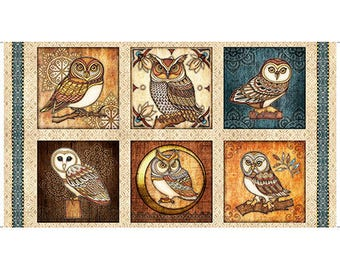 Where the Wise Things Are, Quilting Treasures Fabrics, Panels, Owls