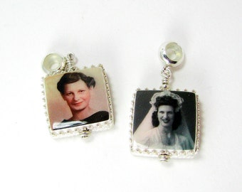 Sterling Framed Photo Charms for your Pandora Style Bracelet - XSM - FC5Cfx2