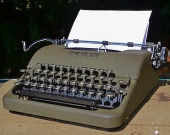 "Vintage Corona ""Silent"" Olive Drab WWII Typewriter"