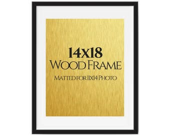 Picture frame, 11x14 Art Print, Art print framed, Photo frame, Wall decorr, Framed art, 11x14 photo frame, black picture frame