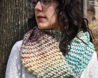 Blue, Red, Yellow & Aqua Infinity Scarf!