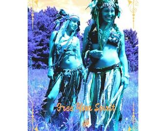 Tattered Pixie Skirt, Eco Gypsy Clothes, Wearable Art, Hippie Fashion Skirt, Boho Clothing, Burning Man Costume