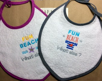 Embroidered Terry bib / Embroidered Terry cloth Baby bib