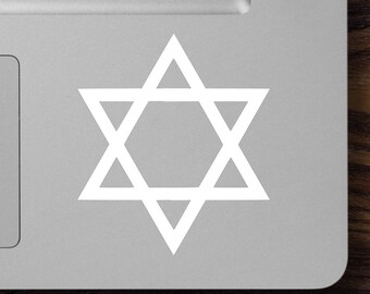 "Two (2) STAR OF DAVID 2.5"" x 3"" Vinyl Decal Stickers - Jewish Hebrew Judaism *Free Shipping*"