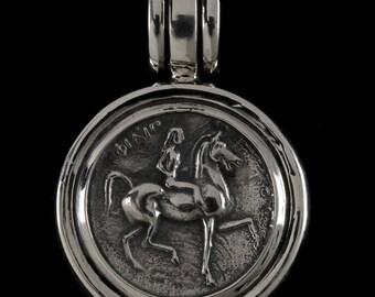 Lady Godiva Pendant , B.C. Silver Collection     6424S