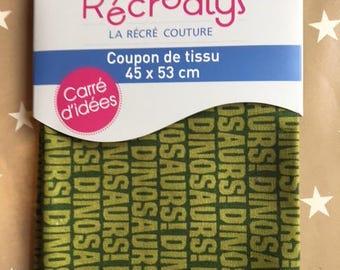 grey pattern fabric dinosaur RECREATYS 45/53 cm