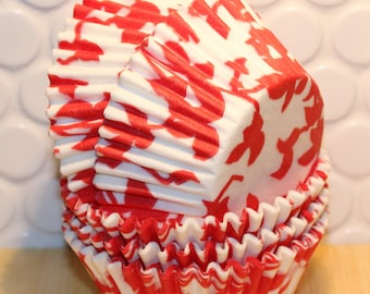 NEW - Red Ivy Cupcake Liners (Qty 45) Red Ivy Baking Cups, Red Cupcake Liners, Red Baking Cups, Cupcake Liners, Baking Cups, Muffin Cups