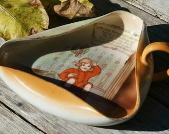 Vintage Royal Bayreuth Bavaria Little Jack Horner Porcelain Trinket Dish