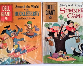 Dell Giant Combo!  Huckleberry Hound and Nancy & Sluggo Summer Camp