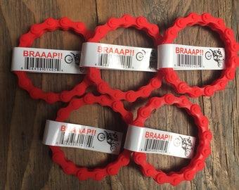 5 MX RED CHAIN wristband bracelet