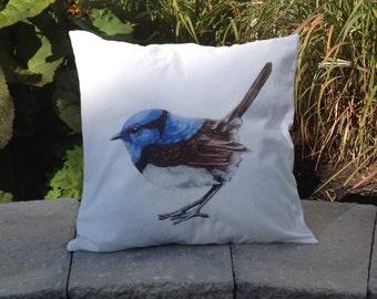 Blue bird cover pillow case decorative cushion Home decor