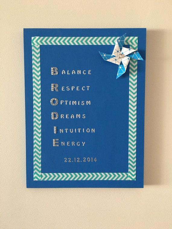 Hecho en casa personalizado acróstico poemas para bebés