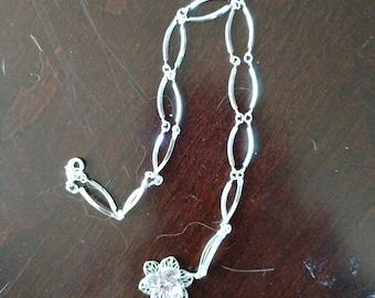 Crystal flower pendant