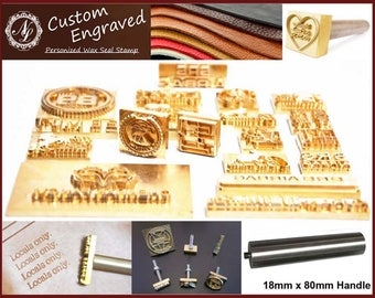 3cm X 25cm Custom Made Design Leather Stamp Wood Branding