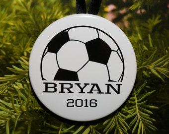 Soccer Name Christmas Ornament - customized - C195
