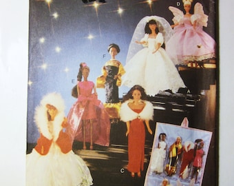 Butterick 5061 Barbie Gowns, Evening Dresses, Fairy and Organizer for 11.5 doll