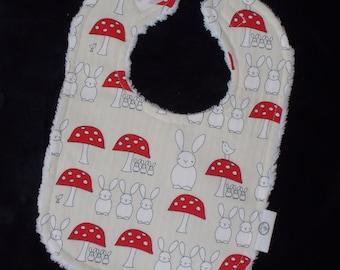 Bunny Triplets Chenille Boutique Bib - SALE