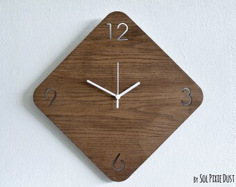 Wooden Rhombus - Wooden Wall Clock